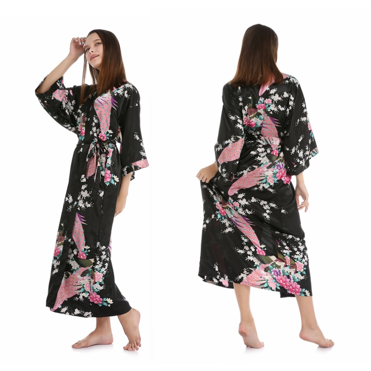 04de61c6ed Wholesale Personalized Peacock Kimono Silk Satin Robes For Women Bridesmaid  - Buy Bridal Robe