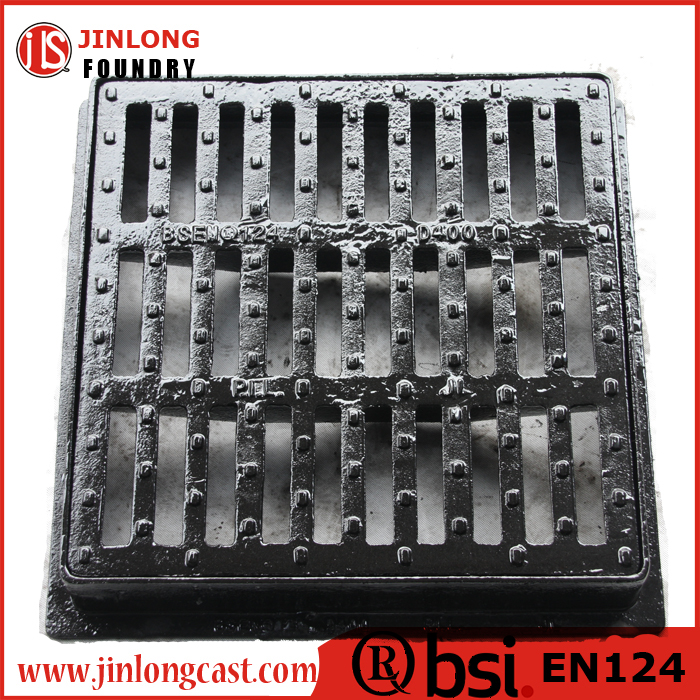 ductile cast iron gully gratings with 600*600 EN124 D400