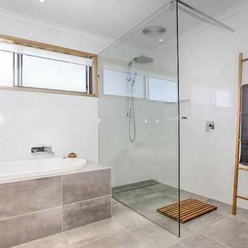 Custom Shower Doors And Enclosures Fixed Screen Single Gl