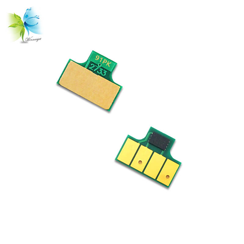 WINNERJET compatible single use cartridge chips for HP 91#  DesignJet Z6100 printer
