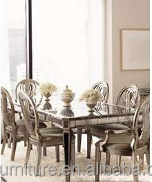 6 Person Mirrored Dining Table Antique Mirror
