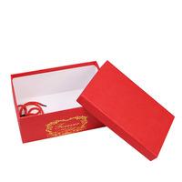 Recycled Materials exquisite and elegant gift and craft hot stamping technics clear lid boxes