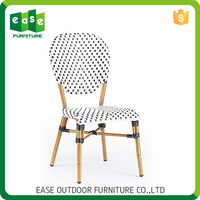 High quality new design Cosy Non-wood Aluminum low back wood dining chair