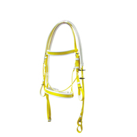 Fancy Nice And Lasts Well Horse Bridle And Rein , Pvc Material Stainless Steel Buckle