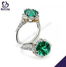 Excellent engagement cz finger 925 silver jewelry