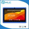 Low Radiation 7 inch kids tablet pc quad core android4.4 wifi,support TF card,