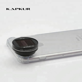 1.33X anamorphic lens for smartphone with the horizontal light flare