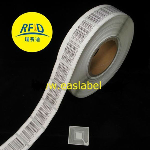 HOT eas rf label, anti-theft eas 8.2Mhz label, eas em security label