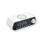New Design Digital Mini Portable Wireless Speaker Alarm Clock Speaker Fm Radio Mp3 Speaker