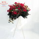 fresh flower arrangemt tripod for wedding / gold metal fresh flower stand for opening ceremony