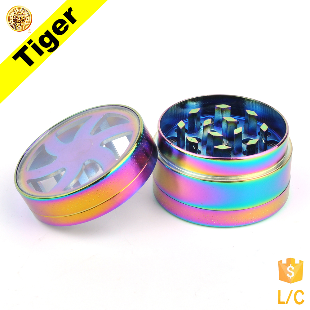 New Colorful Znic Metal Herb Grinder Tobacco Grinder Amazon Hot Sale