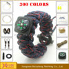 camping emergency survival bracelet army paracord climbing rope bracelet
