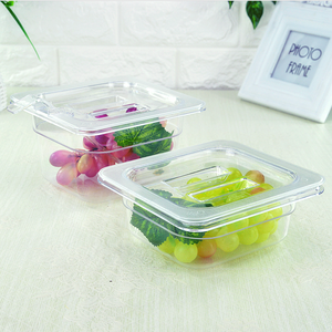 Polycarbonate Food Pan plastic food container plastic kitchen transparent storage pan