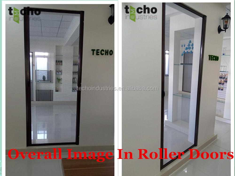 Modern house door design aluminum roller screen door with - Mosquito net door designs ...