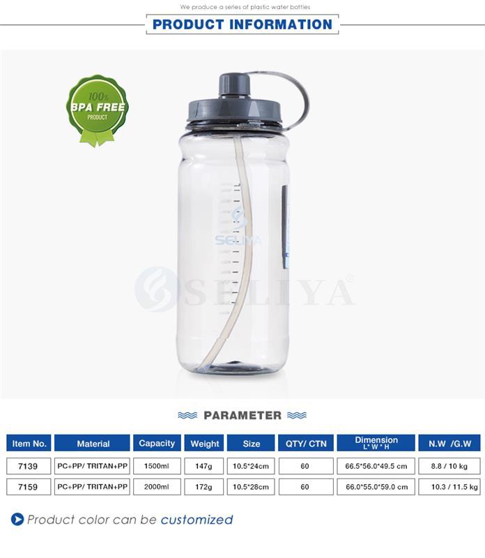 Customised Wide Mouth 1 5 Liter 2000ml Large Clear Plastic Water Cup Bottle Buy Besar Botol Plastik 1 5 Liter Botol Plastik Botol Dengan Jerami Product On Alibaba Com