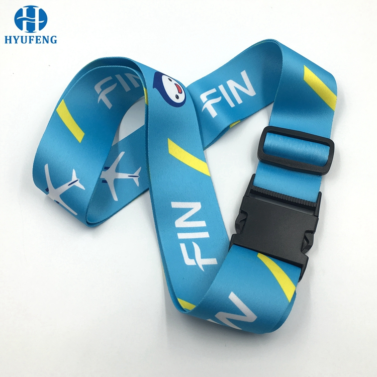 Promotion Airport Colorful 5cm Sublimation Logo Luggage Belt