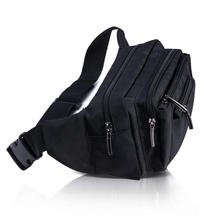 Custom your own logo multi waist bag fanny pack men wholesale  bum bag