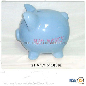 Cheap custom ceramic piggy animal money coin saving bank for diy wholesale