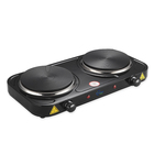 Portable Electric Non Slip Stove Twin Hob with New Hot Plate Cooker Electric 2 Burner Hot Plate Stove For Cooking 2000 Watts