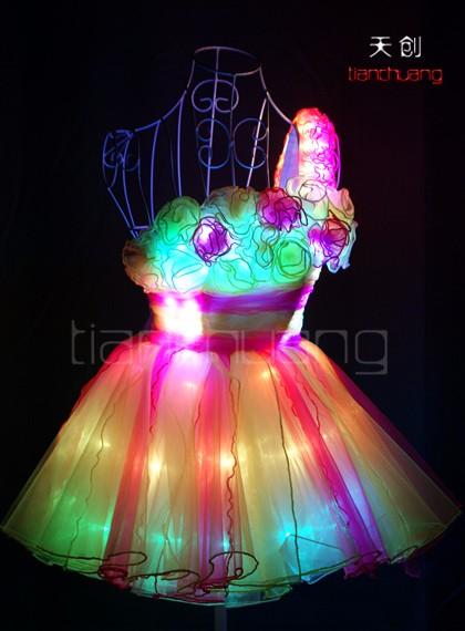 Luces led trajes de baile sal n de baile ropa de la etapa para las mujeres buy luces led - Luces led para salon ...