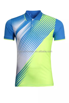 Custom mens sublimation yellow and blue polo shirts