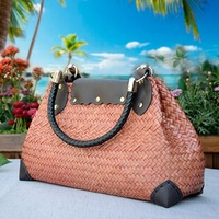 High-end Hand-woven Beach Bags Holiday Travel Fashion Straw Wrapped Ethnic Wind Rattan Woven Bags For Ladies