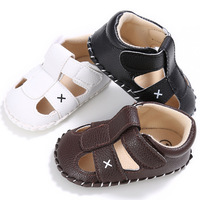 New arrived Rubber sole PU Leather Outdoor Walking shoes baby sandals leather boy