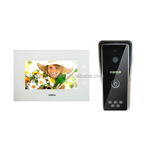 7 inch touch button color video intercom set for villa
