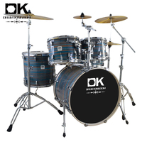 Competitive china factory price best professional acoustic drum sets with full size for sale