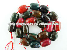 CH-JGB0103 agate,multicolor brazil agate jewelry loose bead,new faceted agate