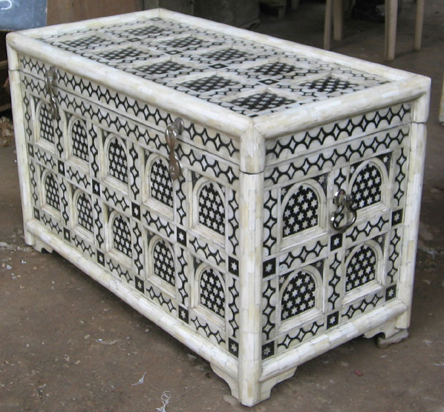 Moroccan Style Camel Bone Inlay Trunk U0026 Box Table Furniture (bone U0026 Mother  Of Pearl Inlay Furniture From India)   Buy Bone U0026 Mother Of Pearl Inlay  Furniure ...