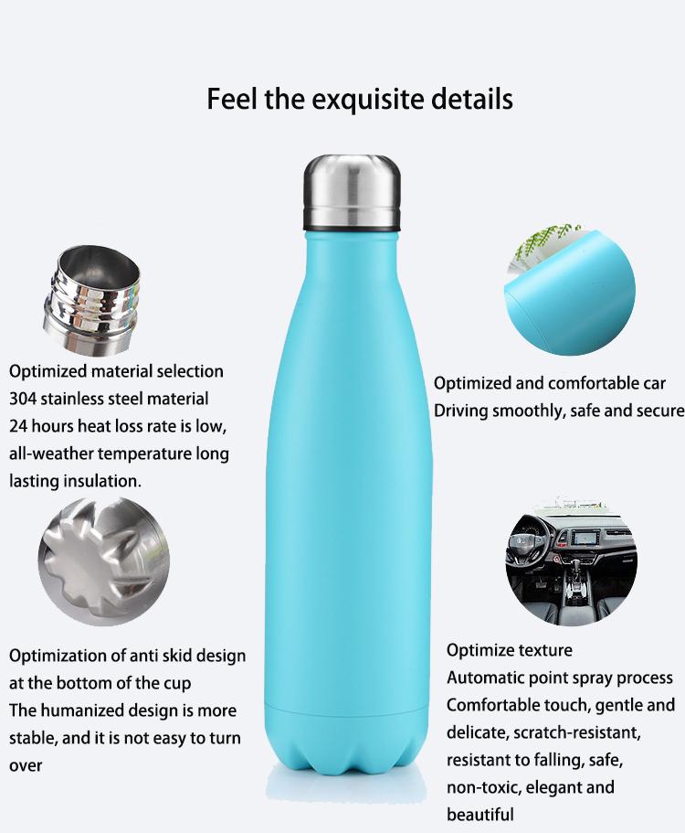 Бутылка для воды из нержавеющей стали в форме колы бутылка для колы