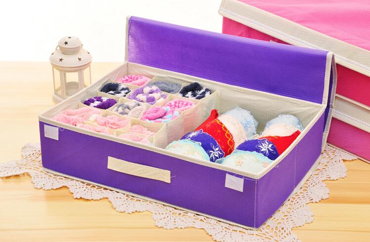Wholesale Non Woven Drawer Dresser Dividers Closet Organizers Bra Underwear  Storage Boxes Bin Set S/