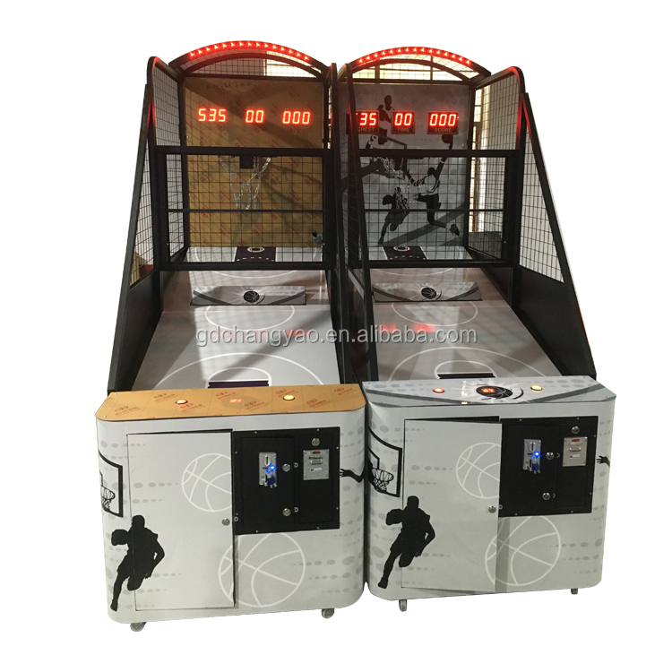 Hotselling Indoor Sports coin operated electronic Folding Street Basketball Shooting Arcade Game Machine Manufacturer For Sale