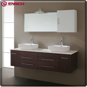 China Factory New Design Modern Style Double Sink Bathroom Vanity