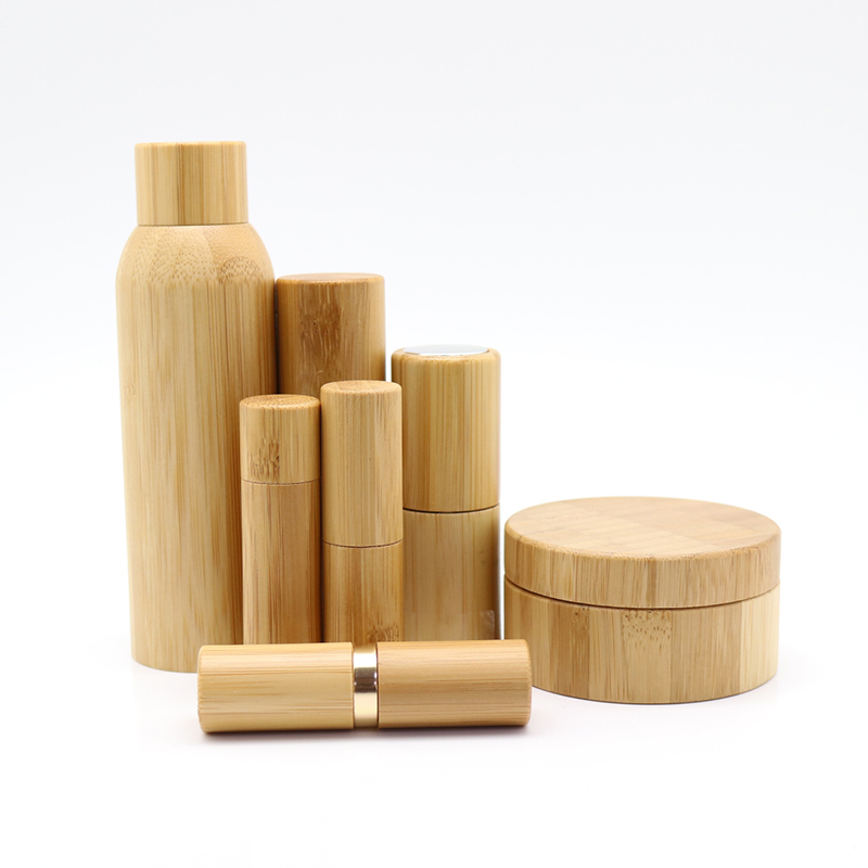 High quality 10ml matt colored roller glass bottle container with bamboo printing lid