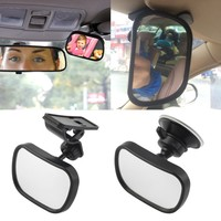 Car Back Seat Safety View Mirror Baby Rear Ward Facing Car Interior Baby Kids Monitor Safety Reverse Safety Seats Basket Mirror