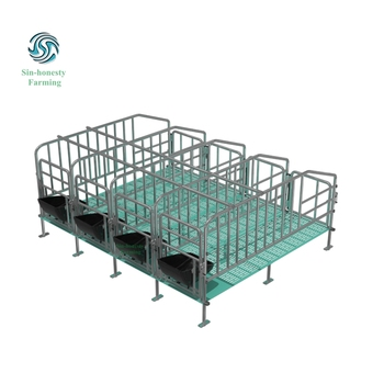 Hot Dip Galvanized Pig Gestation Stall With Feed Drop Tube