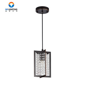 Contemporary led crystal chain chandelier chandeliers lamp