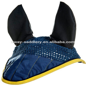 Equestrian horse riding fly mask with ears