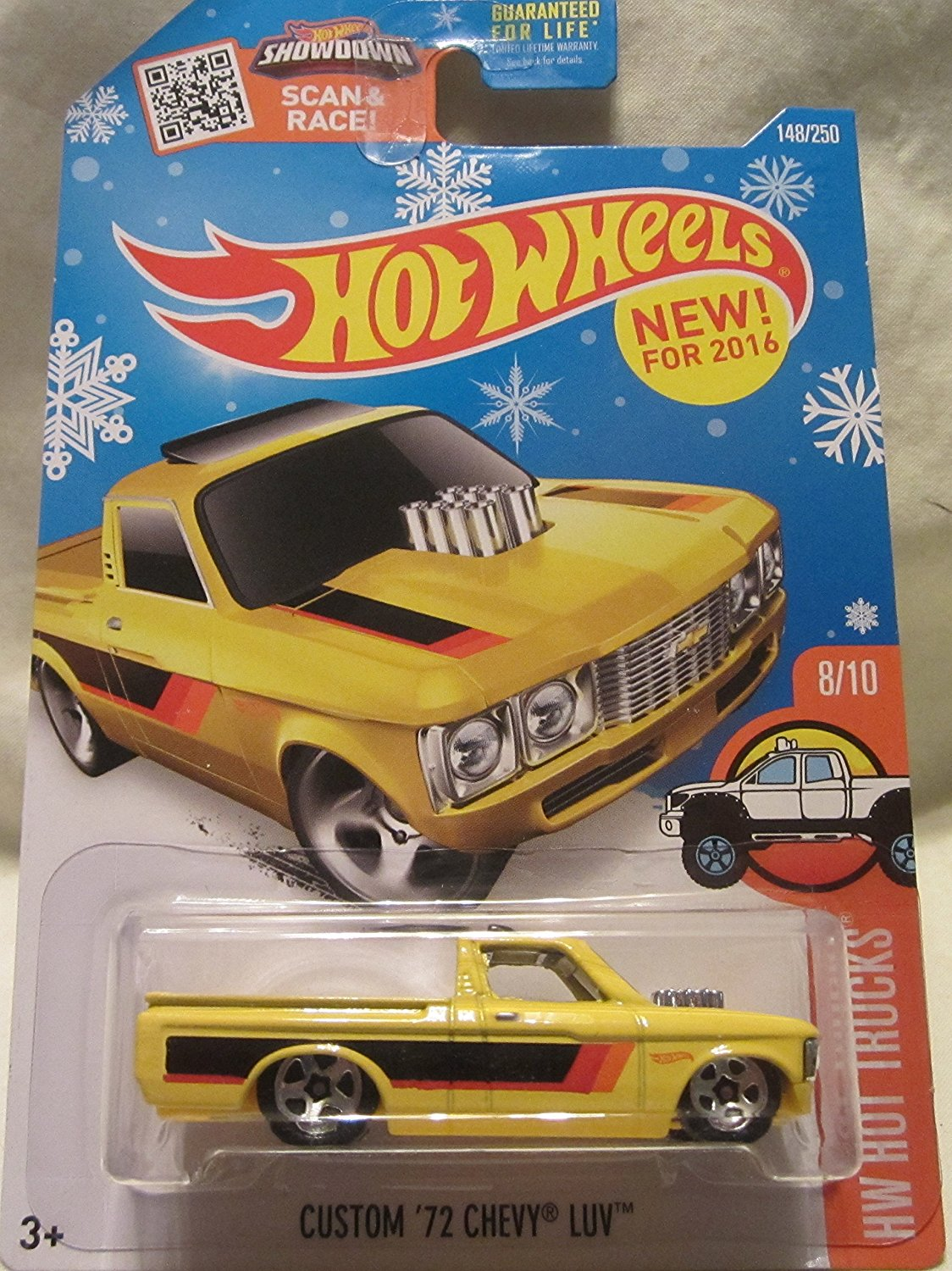 2016 Hot Wheels HW Hot Trucks Custom '72 Chevy Luv 148/250 Snowflake Exclusive