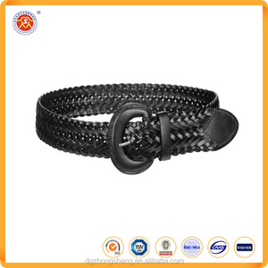 Design Dark Red Genuine Wide Leather Belts In Bulk with Big Buckle Size
