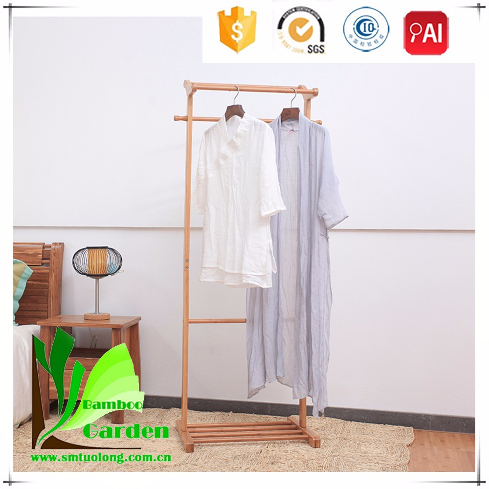 Home furniture simple hanging bamboo clothes rack buy for Furniture to hang clothes