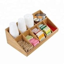 Natuurlijke bamboe <span class=keywords><strong>kantoor</strong></span> keuken <span class=keywords><strong>compartiment</strong></span> kruiderij thee koffie organizer