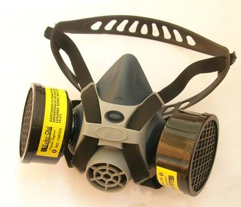 Military Half Face Gas Mask With Activated Carbon Filter
