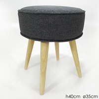 wooden cloth sofa foot stool