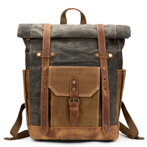 Waxed Canvas Backpack Rucksack Travel Backpack 8808