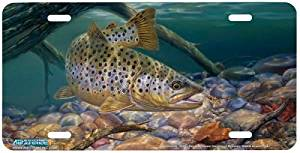 Walleye Fish Art Print Eye Candy Inc. License Plate by Randy McGovern from Airstrike