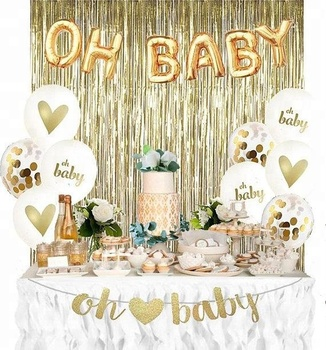 57908997b Baby Shower Decorations For Gender Reveal Oh Baby Party Supplies Kit ...