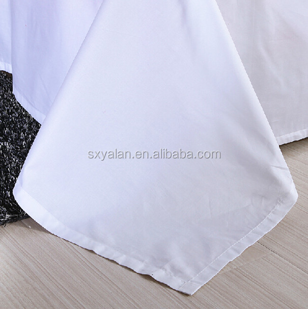 White solid color cotton fabric /sateen stripe/jacquard/satin/ dobby/hotel fabric